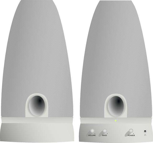 bílošedé reproduktory