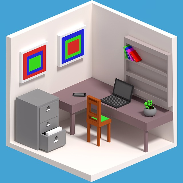 kancelář, kartotéka, židle, stůl
