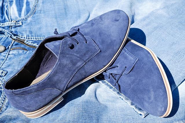 rifle, pánské modré boty
