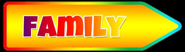 family, šipka, rodina