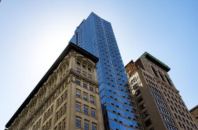 velké domy, mrakodrap