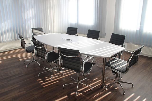 kancelář, stůl, židle