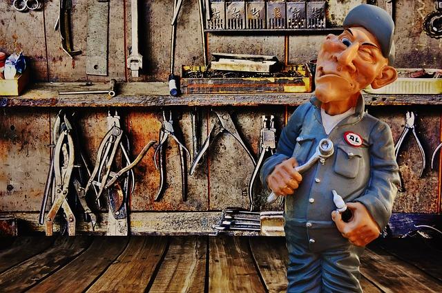 dílna a mechanik