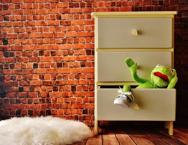 žába ve skříni