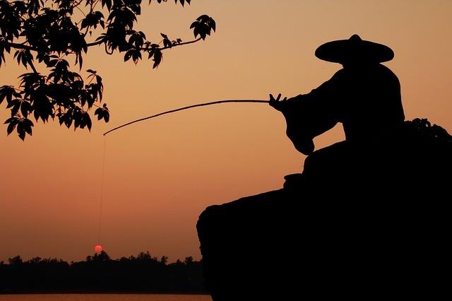 rybaření za soumraku