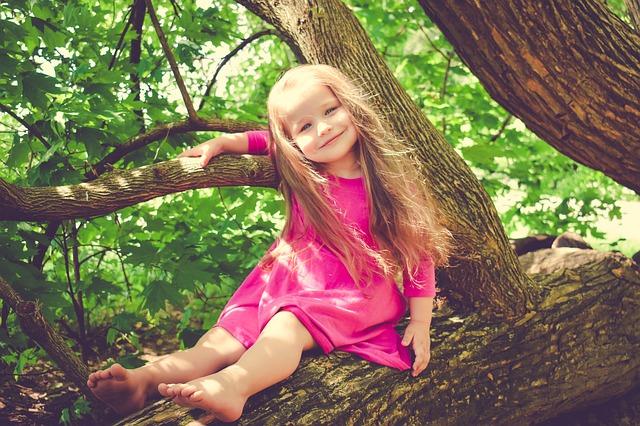 holčička na stromě