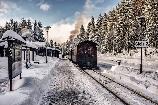 Železniční vozidla v zimě