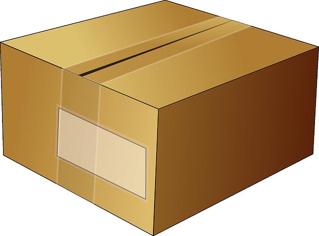 přelepený balík – animovaný obrázek
