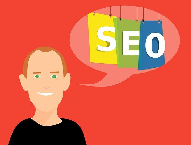 seo marketing – nápis v bublině