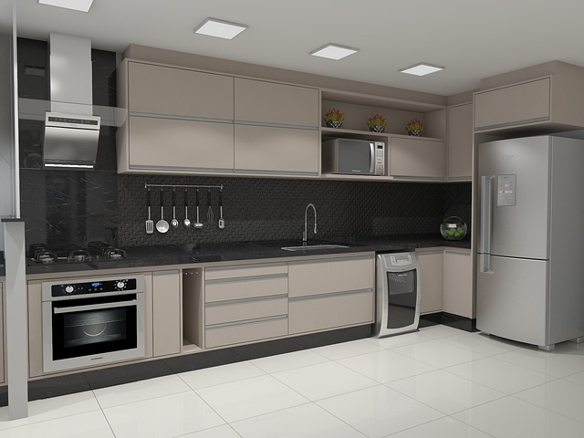 kuchyň ve 3D