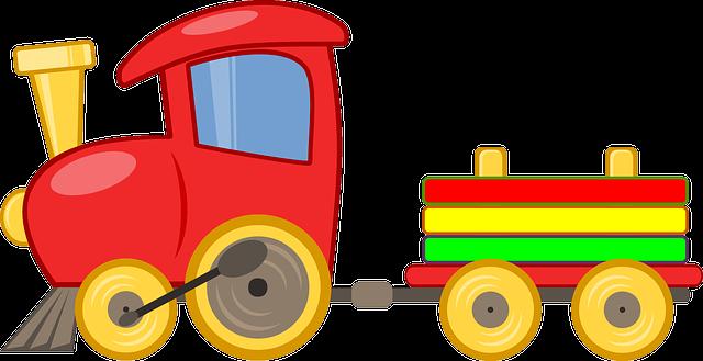ilustrace dětského vláčku